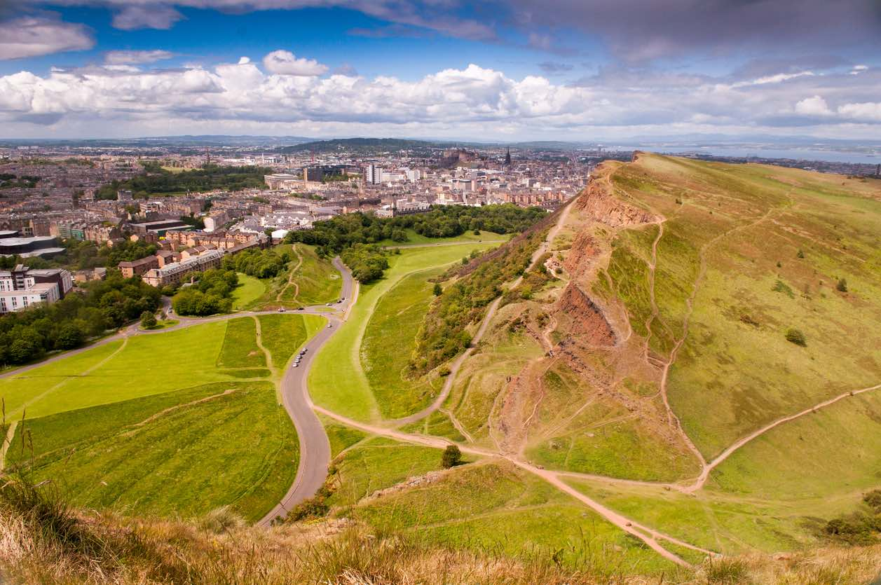 Edinburgh, Arthur's Seat and the Legend of the Sleeping Dragon