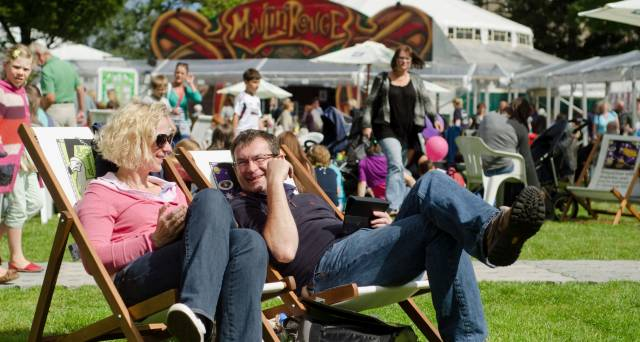 A typical day at the Edinburgh International Book Festival